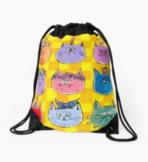 Colourful Cats Drawstring Bag