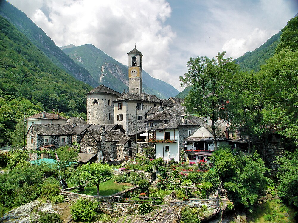 Church At Valle Verzasca by Jim  Grossi