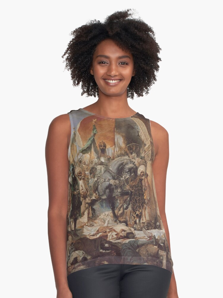 'Ottoman Painting: Conquest of Constantinople 1453' Contrast Tank by  ersindesign