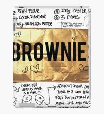 brownie recipe iPad Case/Skin