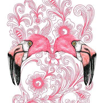 Hot flamingo by SandraBurger