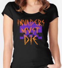 INVADERS MUST DIE II Women's Fitted Scoop T-Shirt