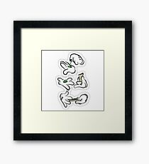 Mickey Mouse Hands Smoking Weed Framed Print