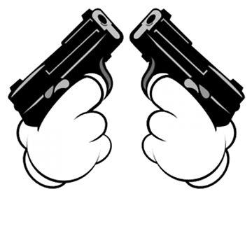 Mickey Mouse Hands Shooting Two Guns by MyNameIsVZalaya