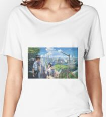 Kimi No Na Wa Stairs Women's Relaxed Fit T-Shirt