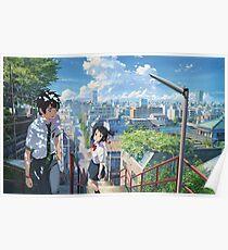 Kimi No Na Wa Stairs Poster