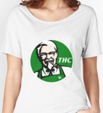 KFC PARODY THC Weed. Women's Relaxed Fit T-Shirt