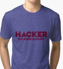 Hacker - Logo Tri-blend T-Shirt