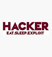 Hacker - Logo Photographic Print