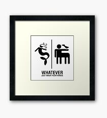WHATEVER Just Wash Your Hands Framed Print