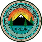 TONGASS NATIONAL FOREST ALASKA HIKING CAMPING SKIING CAMPER MOUNTAIN BIKE by MyHandmadeSigns