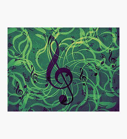 Musik Blumen Hintergrund Fotodruck