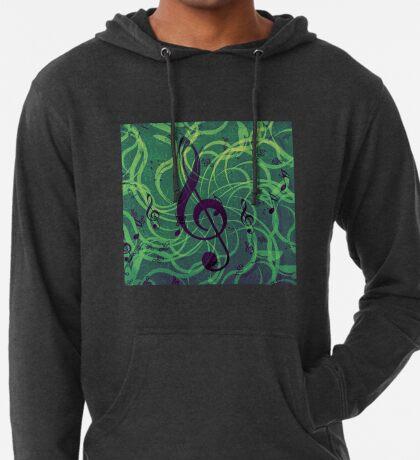 Musik Blumen Hintergrund Leichter Hoodie