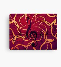 Music floral background 2 Canvas Print
