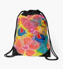 gossip session Drawstring Bag