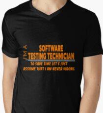 SOFTWARE TESTING TECHNICIAN Men's V-Neck T-Shirt