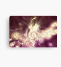 Glowing music background 3 Canvas Print