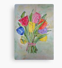 Colours Tulips Canvas Print