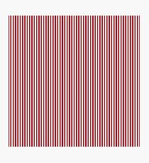 USA Flag Red and White Stripes Photographic Print