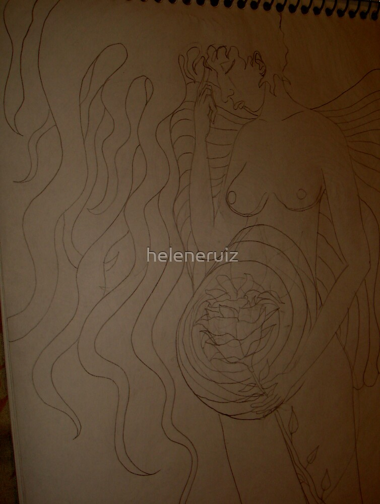 """sketches from my sketchbook during my """"healing process""""13 by helene ruiz"""