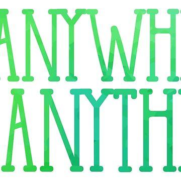 Überall gehen, alles tun (grün) von its-anna