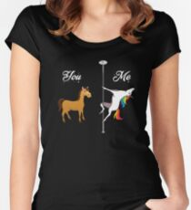 You, me - pole dancing unicorn Women's Fitted Scoop T-Shirt
