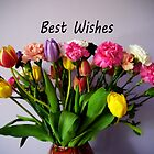 Best Wishes with Flowers by Forfarlass
