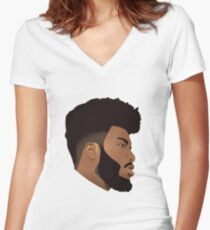 Khalid Women's Fitted V-Neck T-Shirt