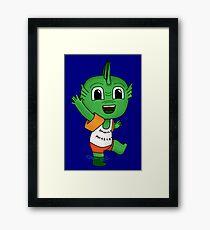 Terrifying Swamp Monster Framed Print