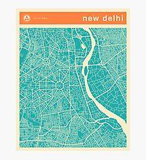 NEW DELHI MAP Photographic Print