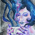Silence - Peaceful Night Coffee Galaxy  by Allise Noble