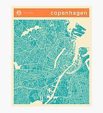 COPENHAGEN MAP Photographic Print