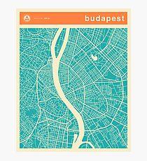BUDAPEST KARTE Fotodruck
