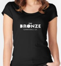 The Bronze Sunnydale Merchandise Women's Fitted Scoop T-Shirt