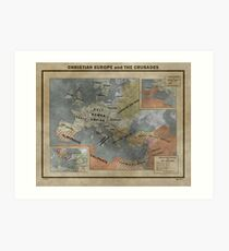 Christian Europe and the Crusades Art Print