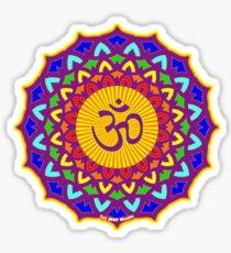 7th Chakra Mandala Yoga Om Sticker