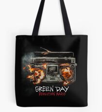 DAY GREEN BLACK COLOR  Tote Bag