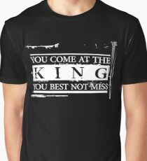 """You Come at the King, You Best Not Miss"" - The Wire (Light) Graphic T-Shirt"