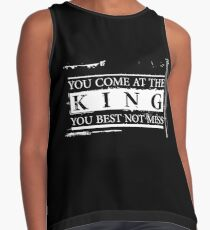 """You Come at the King, You Best Not Miss"" - The Wire (Light) Contrast Tank"