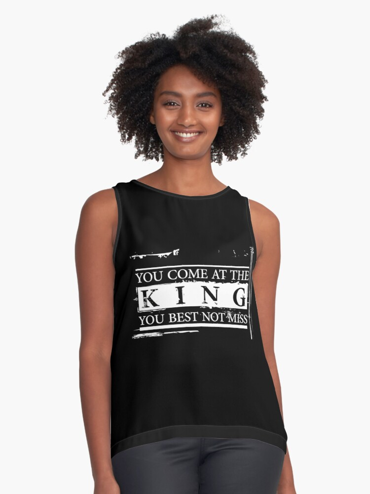 """You Come at the King, You Best Not Miss"" - The Wire (Light) Contrast Tank Front"