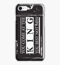 """""""You Come at the King, You Best Not Miss"""" - The Wire (Light) iPhone Case/Skin"""