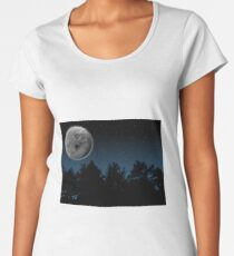 Moon Night Women's Premium T-Shirt
