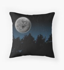 Moon Night Throw Pillow
