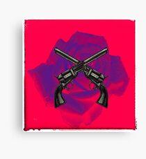 Guns & Rose Canvas Print