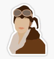 Amelia Earhart Sticker