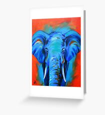 Vibrant Elephant Colorful Painting Greeting Card
