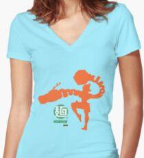 The Ramen Bomber - Minmin Women's Fitted V-Neck T-Shirt