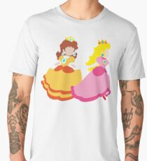 Princess Peach & Princess Daisy (Toadstool) Men's Premium T-Shirt