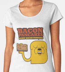Jake The Dog - Adventure Time - Making Bacon Pancakes Women's Premium T-Shirt
