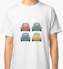Volkswagen Type 1 - Variety of Volkswagen Beetle on Vintage Background  Classic T-Shirt